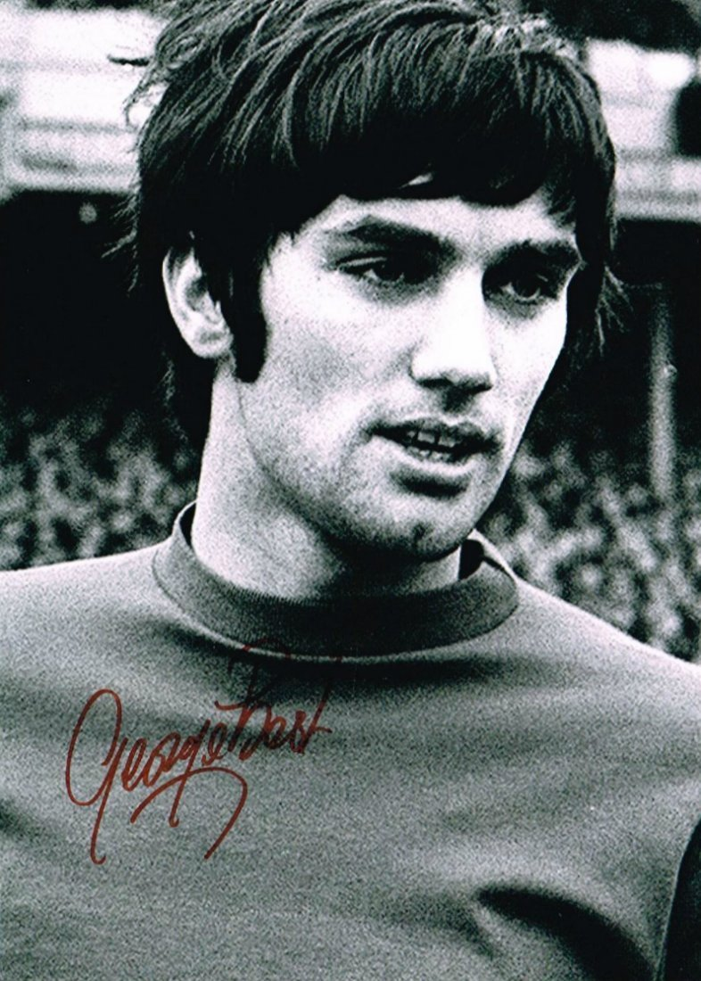 GEORGE BEST SIGNED.