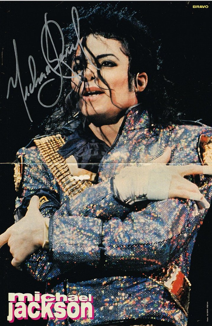 MICHAEL JACKSON SIGNED POSTER.