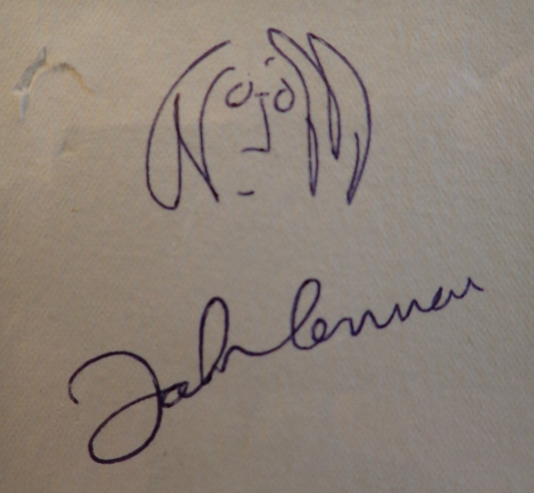 JOHN LENNON SIGNED.