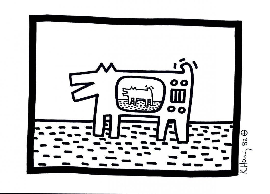 KEITH HARING: BARKING DOG TV.