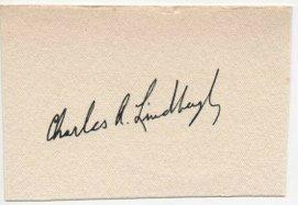 CHARLES LINDBERGH SIGNED.