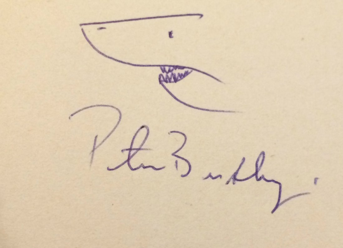 Peter Benchley signed Jaws autograph.