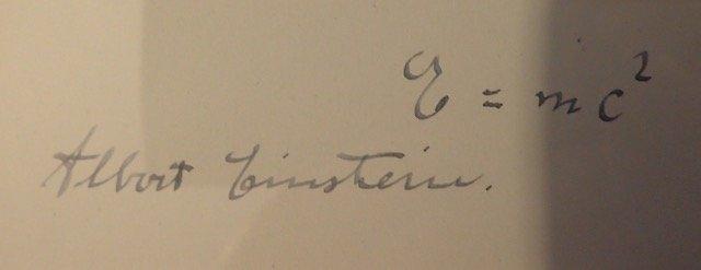 ALBERT EINSTEIN SIGNED. - 3
