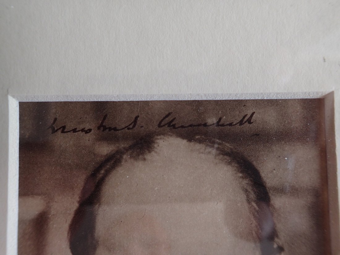 Winston Churchill Framed signed postcard. - 3