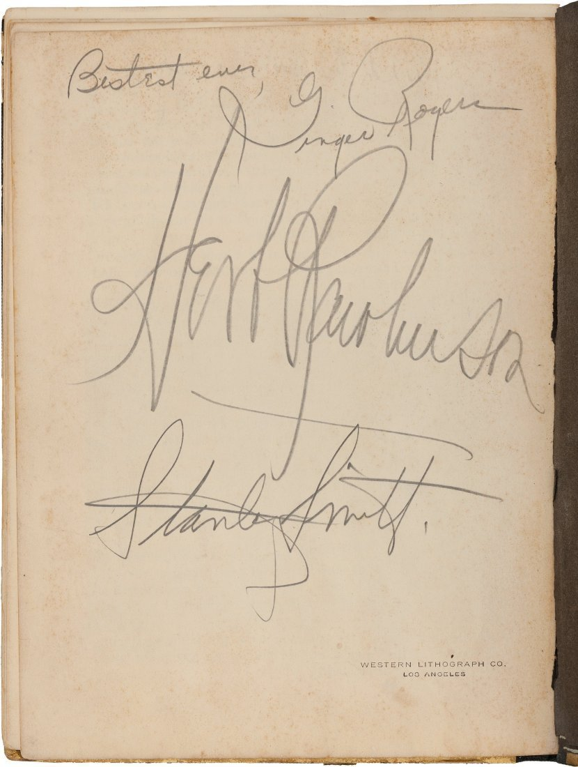 HOWARD HUGHES HELLS ANGELS SIGNED BY GINGER ROGERS.
