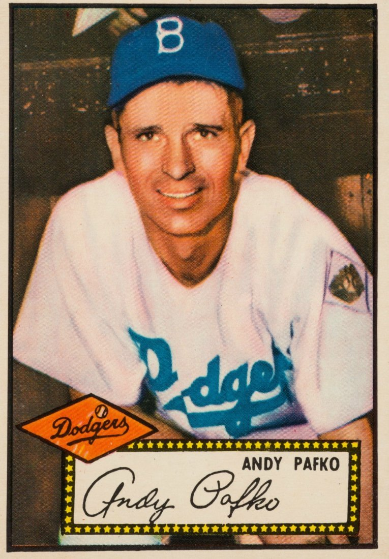 ANDY PAFKO: 1952 TOPPS CARD.