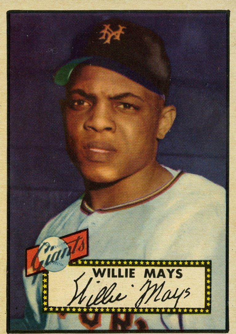 WILLIE MAYS NO 70. 1952 TOPPS BASEBALL CARD.