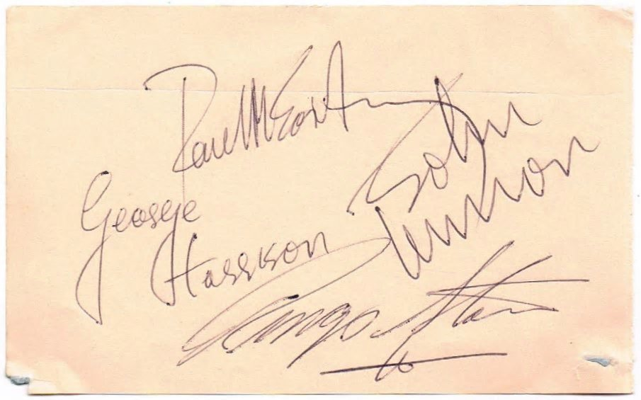 THE BEATLES SIGNED.