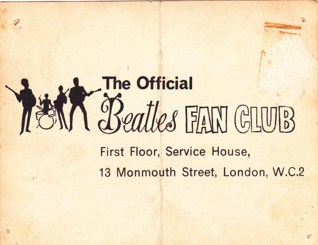 THE BEATLES SIGNED MEMBERSHIP CARD. - 3