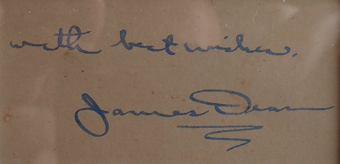 JAMES DEAN SIGNED. - 2