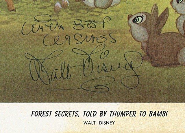 WALT DISNEY SIGNED. - 2