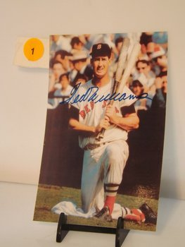 Ted Williams Autographed Photo.  4x6 Color Photo -