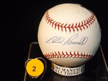 Autographed Bill RussellBaseball.  Rawlings Official