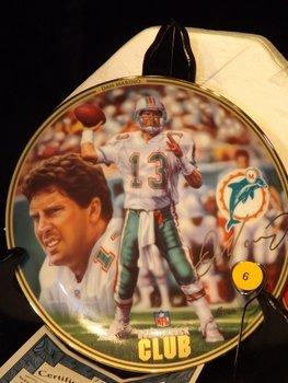 Lot of 3 collectors plates including Dan Marino,