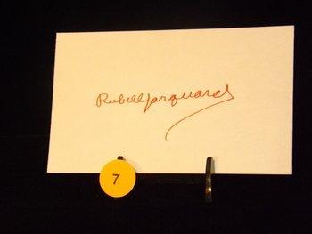 Rube Marquard Die Cut Autograph.  Appraised or