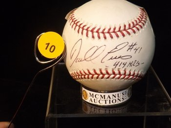 Daryl Evans Autographed Baseball.  Rawlings Official