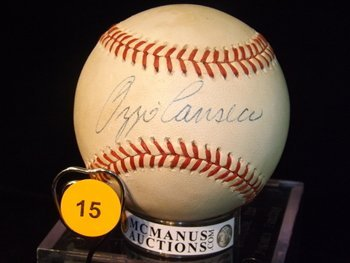 Ozzie Canseco Autographed Baseball.  Rawlings Official