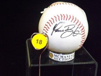 Dave Burba Autogrpahed Baseball.  Rawlings Official