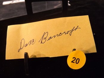Dave Bancroft Die Cut Autograph.  Appraised or