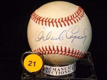 Orlando Cepda Autographed Baseball.  Rawlings Official