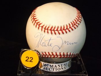 Monte Irvin Autographed Baseball.  Rawlings Official