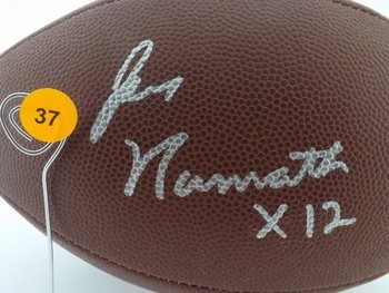 Joe Namath Autographed Football.  Wilson Official NFL
