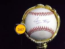 Willie Mays Autographed Baseball. Rawlings Official