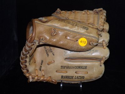 Joe DiMaggio Autographed Baseball Glove. Hollander Joe