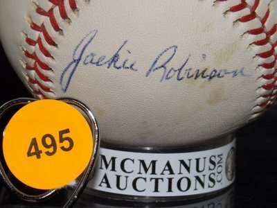 Jackie Robinson Autographed Baseball. Spalding/Official - 2