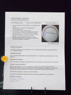 Jackie Robinson Autographed Baseball. Spalding/Official - 5
