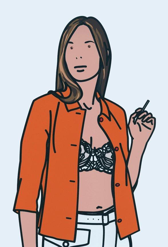 Julian Opie: Ruth Smoking #1