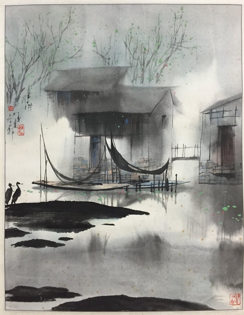 Chinese Painting By Yang Ming Yi Mounted With no Frame