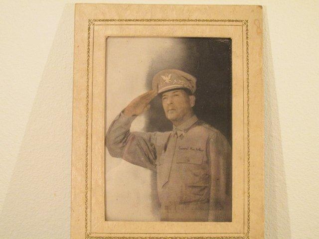 Vintage General Douglas MacArthur framed picure