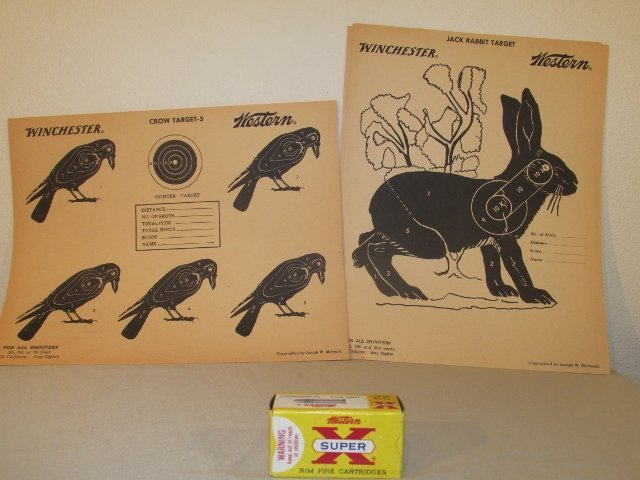 12 Winchester Western .22 Targets Crow's Rabbit .22 box