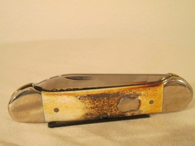 Case Bros Cutlery Stag Canoe Knife w shield