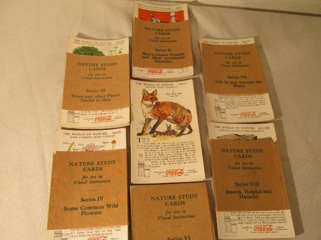 1929 Coca Cola Nature Study Cards 6 series 72 Cards