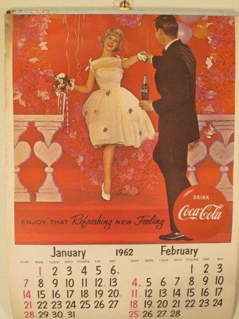 1962 Coca Cola Wall Calendar Complete