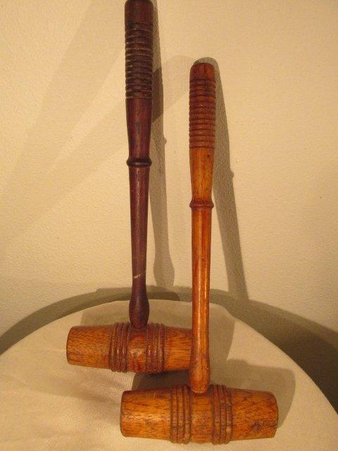 2  Antique auctioneer gavels