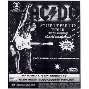 AC/DC - Stiff Upper Lip Tour - 2000 Concert Handbill