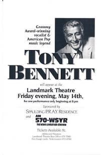 Tony Bennett 1993 Concert Handbill