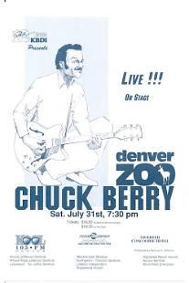 Chuck Berry 1993 Concert Handbill