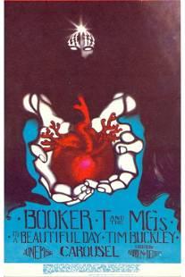 Booker T the MGs 1968 Concert Handbill