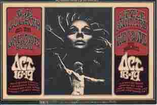 Joe Cocker Little Richard 1969 Fillmore Hanbill