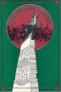 Country Joe the Fish 1969 Fillmore Concert Handbill