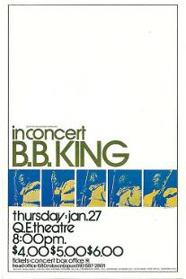 BB King 1972 Concert Handbill