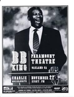 BB King 1999 Concert Handbill
