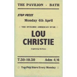 Lou Christie 1965 Concert Handbill