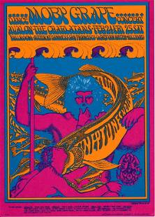 Moby Grape 1967 Family Dog Concert PostcardHandbill