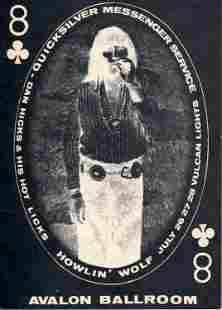 Quicksilver Messenger Service Howlin Wolf Handbill