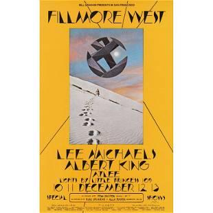 Lee Michaels Albert King 1969 Fillmore Handbill